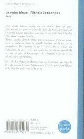 La robe bleue - 4ème de couverture - Format classique