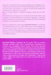 Cent Lectures De Marcel Duchamp - 4ème de couverture - Format classique