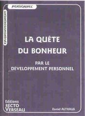 Quete Du Bonheur Par Le Dev. Personnel - Intérieur - Format classique