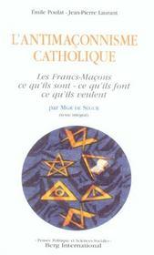 Antimaconnisme catholique (2e édition) - Intérieur - Format classique