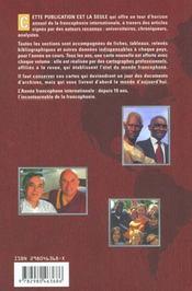 L'annee francophone internationale (edition 2001) - 4ème de couverture - Format classique