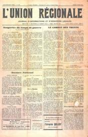 Union Regionale (L') N°1177 du 22/03/1941 - Couverture - Format classique
