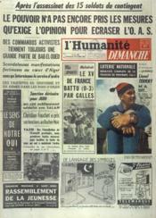 Humanite Dimanche (L') N°709 du 25/03/1962 - Couverture - Format classique