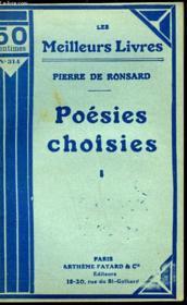 Poesies Choisies - Tome 1 - Couverture - Format classique