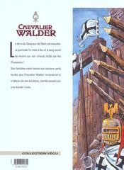 Chevalier Walder t.7 ; terre maudite - 4ème de couverture - Format classique
