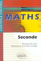 Controle Continu ; Mathématiques ; 2nde - Intérieur - Format classique