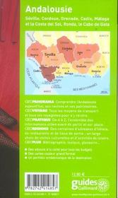 Geoguide ; Andalousie (édition 2005/2006) - 4ème de couverture - Format classique