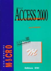 Vente  Access 2000  - Collectif