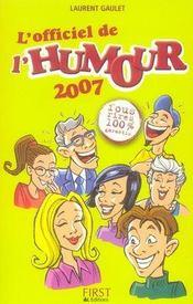 L'officiel de l'humour (édition 2007) - Intérieur - Format classique