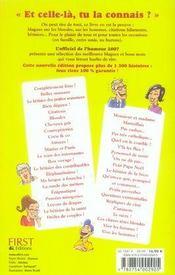 L'officiel de l'humour (édition 2007) - 4ème de couverture - Format classique