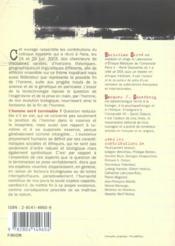 Vers La Fin De L'Homme ? - 4ème de couverture - Format classique