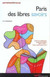 Paris des libres savoirs - Intérieur - Format classique