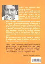 L'Algerie des sources - 4ème de couverture - Format classique