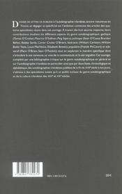 L Autobiographie Irlandaise. Voix Communes, Voix Singulieres - 4ème de couverture - Format classique