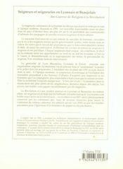 Seigneurs Et Seigneuries En Lyonnais Et Beaujolais - 4ème de couverture - Format classique