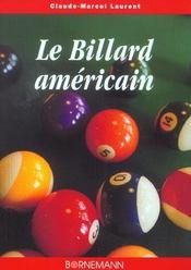Le billard americain , le snooker - Intérieur - Format classique