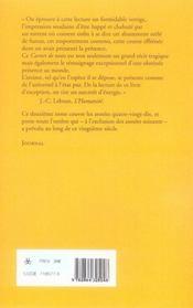 Carnet de notes ; 1991-2000 - 4ème de couverture - Format classique
