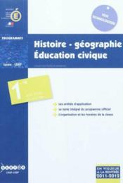 Vente  Histoire-geographie, education civique - classes de premiere des series sti2d, stl et std2a  - Collectif - France