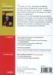 Lorenzaccio ; et autres textes sur la question politique ; spécial bac terminale L - 4ème de couverture - Format classique