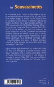 Souverainetes - 4ème de couverture - Format classique
