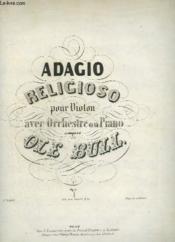 Adagio Religioso Pour Violon Avec Orchestre Ou Piano. - Couverture - Format classique