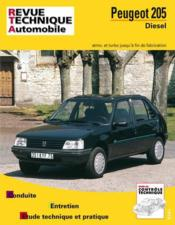 Rta 456.7 Peugeot 205 Diesel Et Td 84-98 - Couverture - Format classique
