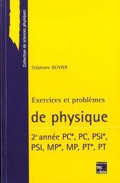 Exercices et problemes de physique 2 annee - Intérieur - Format classique