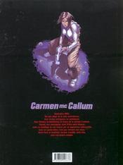 Carmen Mc Callum t.6 ; le sixième doigt de Pendjab - 4ème de couverture - Format classique