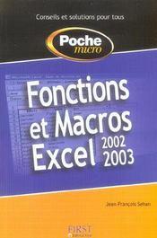 Fonctions et macros excel - Intérieur - Format classique