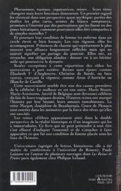 Vies des reines célèbres - 4ème de couverture - Format classique