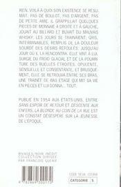 La Blonde Au Coin De La Rue (1ere Ed) - 4ème de couverture - Format classique
