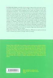Siecle du cinema (le) - 4ème de couverture - Format classique