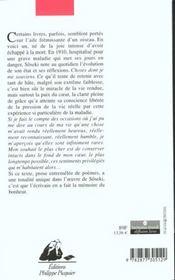 Choses Dont Je Me Souviens - 4ème de couverture - Format classique