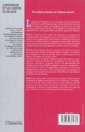 L'Entreprise Et Les Libertes Du Salaries ; Libertes Publiques - 4ème de couverture - Format classique