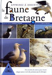 Apprenez a observer la faune de bretagne - Couverture - Format classique