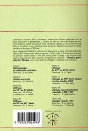 Histoire generale de l'Afrique t.5 ; l'Afrique au XVI au XVIII siècle - 4ème de couverture - Format classique