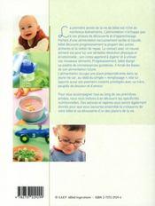 La cuisine pour tout-petits - 4ème de couverture - Format classique