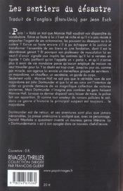 Les Sentiers Du Desastre - 4ème de couverture - Format classique