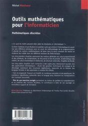 Outils mathématiques pour l'informaticien ; maths discrètes (2e édition) - 4ème de couverture - Format classique