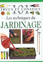 Les techniques du jardinage - Intérieur - Format classique