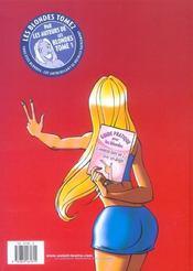 Les Blondes T.2 - 4ème de couverture - Format classique