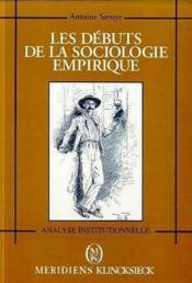Debuts de la sociologie empirique (les) - Couverture - Format classique