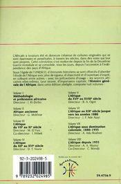 Histoire generale de l'Afrique t.6 ; l'Afrique au XIX siècle jusque vers les années 1880 - 4ème de couverture - Format classique