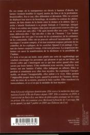 Des Larmes - 4ème de couverture - Format classique