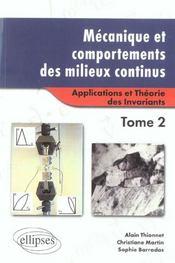 Mecanique Et Comportements Des Milieux Continus Tome 1 Concepts Generaux - Intérieur - Format classique