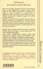 Parle-Moi Du Soleil Et Des Oliviers ; Les Immigres - 4ème de couverture - Format classique