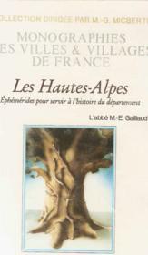 Hautes-Alpes (Departement Des) - Couverture - Format classique