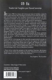 Gb 84 - 4ème de couverture - Format classique
