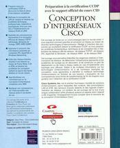 Cisco Conception D'Interreseaux - 4ème de couverture - Format classique