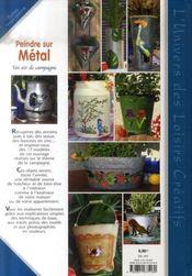 Peindre sur métal ; un air de campagne - 4ème de couverture - Format classique